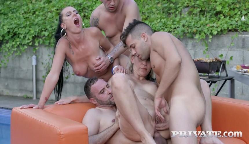 Wilde Orgie-Pornos