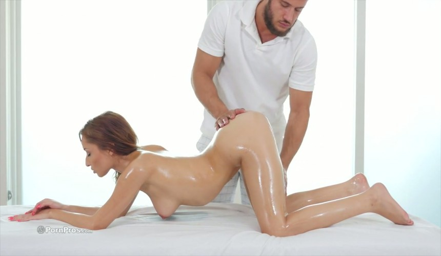 Spagat nackt